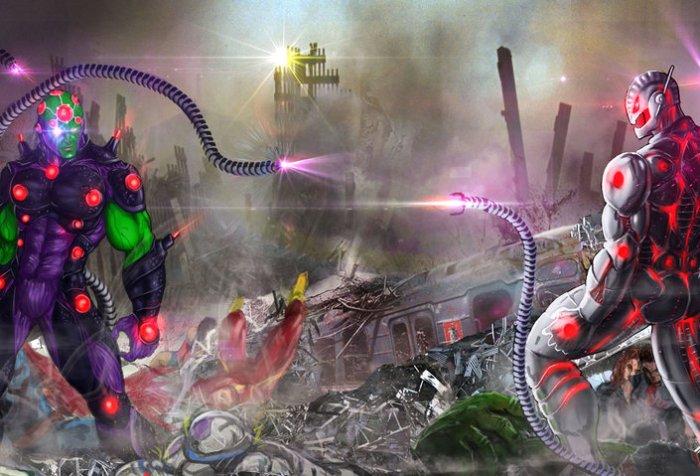 Brainiac vs. Ultron – Marvel vs. DC #7 – Comic Booger