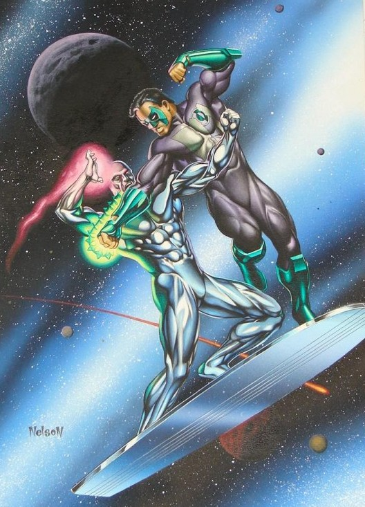 Silver Surfer Vs White Lantern Marvel Vs Dc 22 Comic
